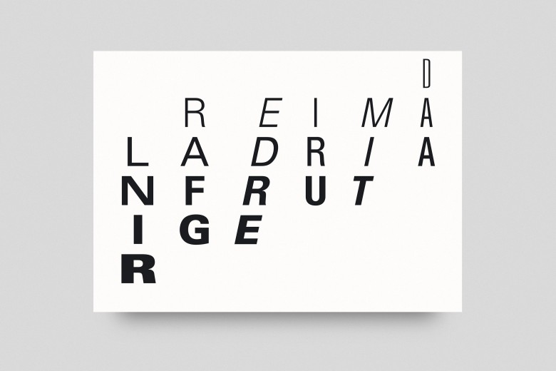 Dreimal Adrian Frutiger Postcard