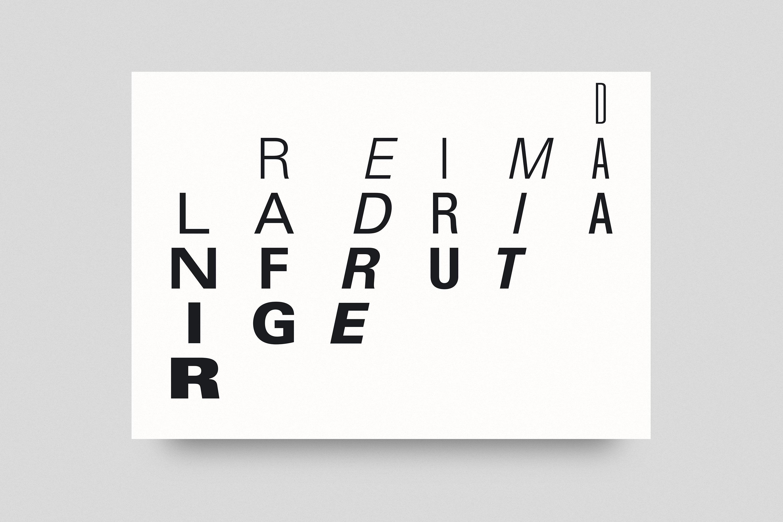 Dreimal Adrian Frutiger Postcard 1