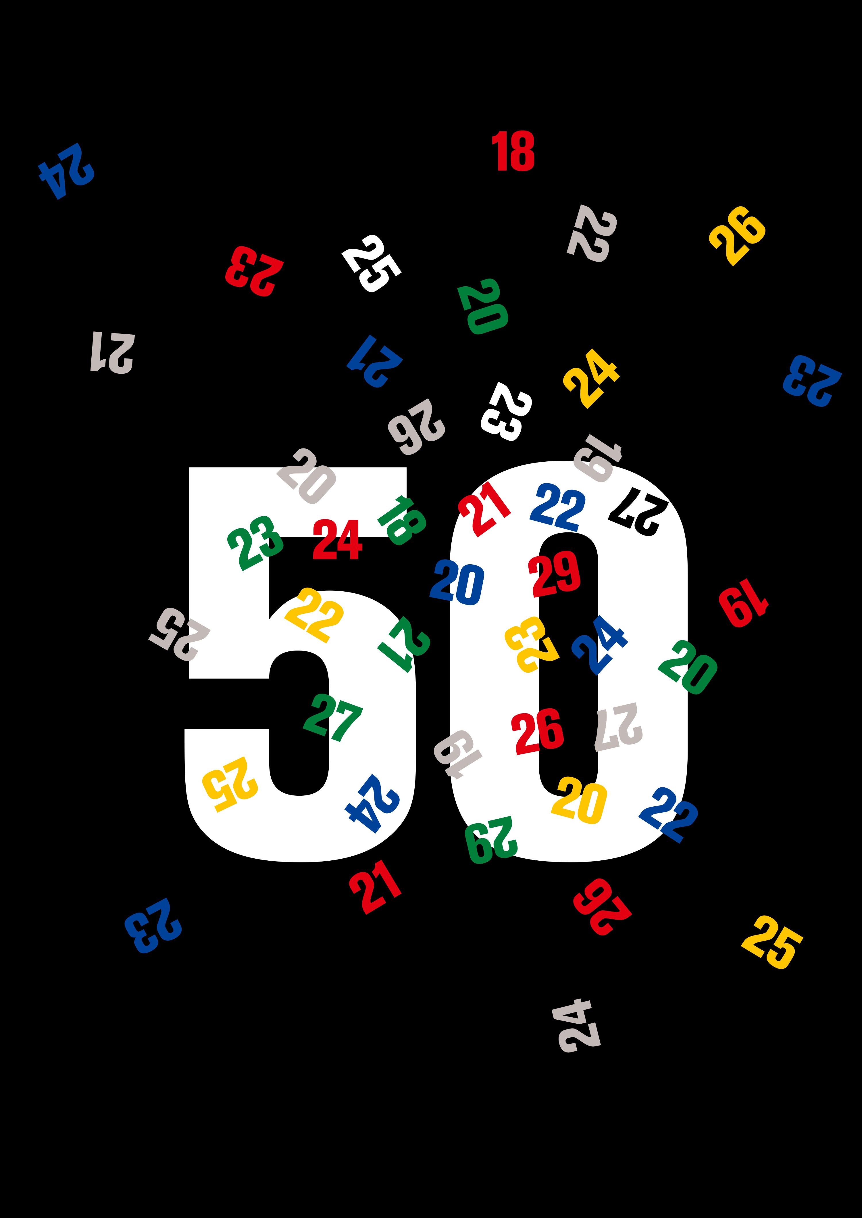 Fiftieth Birthday Poster 1