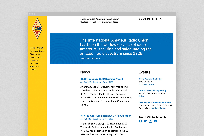 International Amateur Radio Union Website 1