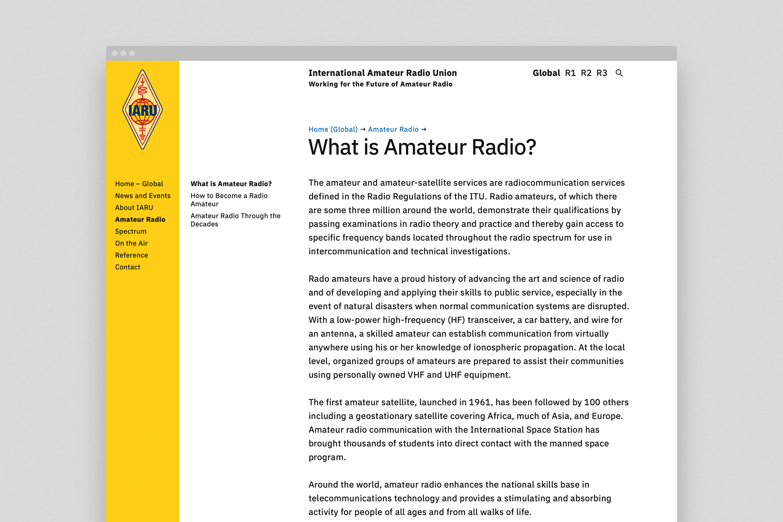 International Amateur Radio Union Website 2
