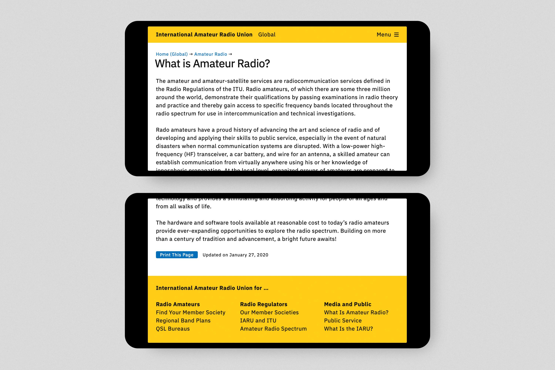 International Amateur Radio Union Website 3