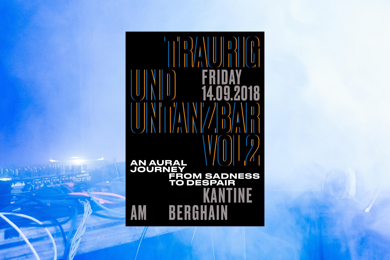 Traurig und Untanzbar Event Branding 2